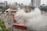 Thực hư thông tin xe khách bốc cháy ngùn ngụt tại bến xe Mỹ Đình