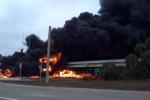 Video: Kinh hoàng nổ xe bồn trên đường cao tốc