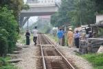 Bị tàu hỏa kéo lê 20m, thợ sửa chữa ôtô chết thảm