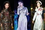 Thu Minh – Đông Nhi – Diễm My diện áo dài nổi bật trên phố đi bộ