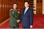 Thủ tướng tiếp Tổng tham mưu trưởng Quân đội nhân dân Lào