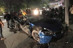 Xe BMW i8 bẹp rúm sau vụ tai nạn ở Hà Nội