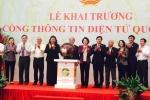 Chủ tịch Nguyễn Sinh Hùng bấm nút khai trương Cổng Thông tin điện tử Quốc hội