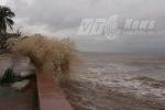 Đảo Bạch Long Vỹ gió bão giật cấp 12,  nhà dân và công sở đóng cửa
