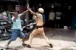 Táo tợn rút thắt lưng đánh cảnh sát giao thông