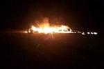 Máy bay không người lái Mỹ rơi tại Kuwait, bốc cháy dữ dội