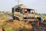 Hà Nội: Đốt rơm rạ, ô tô cháy trơ khung trên đường