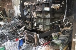 'Bà hỏa' thiêu rụi cửa hàng điện thoại khóa trái cửa