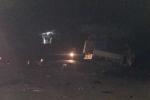 Xe máy khiến ô tô tải tông thẳng vào xe khách, 4 người thương vong