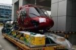 Dàn trực thăng quay phim King Kong 2 tập kết ở sân bay Gia Lâm