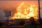 Clip: Nhà máy hóa dầu Trung Quốc nổ kinh hoàng như bom nguyên tử