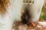 Thi thể phụ nữ lõa thể cháy đen trong căn nhà hoang