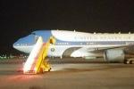 Chuyên cơ chở Tổng thống Mỹ Obama đã đến sân bay Nội Bài
