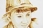 Chàng trai 9X vẽ tranh bằng màu cà phê y như thật