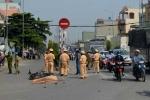 Xe ben mất phanh tông văng 3 xe máy, 1 người chết tại chỗ