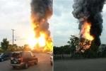 Video: Tàu chở hóa chất nổ tung, bốc cháy dữ dội