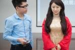 Clip: Điêu đứng trước nhan sắc xinh đẹp tựa nữ thần của robot Trung Quốc