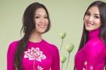 Thùy Dung, Huỳnh Bích Phương khoe sắc trong áo dài Đức Hùng