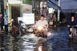 Triều cường lại dâng cao, 'hành' dân Sài Gòn khốn khổ