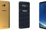 Galaxy S8 phiên bản da cá sấu đính kim cương xanh