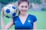 Hot girl Hà thành xinh đẹp gợi cảm trong trang phục đội tuyển Pháp