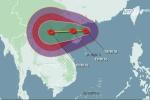 Bão số 3 giật cấp 10 -11, hướng thẳng vào ven biển Quảng Ninh - Nghệ An