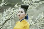 Ấn tượng với bộ sưu tập áo dài 'Mùa hoa' mang phong cách Nhật Bản