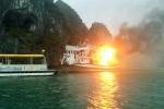 Cháy tàu du lịch trên vịnh Hạ Long: Dừng hoạt động tất cả các tàu cải hoán