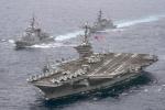 Tàu chiến Mỹ áp sát bán đảo Triều Tiên sau vụ phóng tên lửa