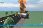 Tài xế dũng cảm lái xe bồn chở xăng đang cháy ra khỏi cây xăng