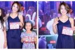 Hot girl Mi Vân mặc áo hai dây, dẫn con gái đi xem phim