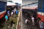 Tàu hỏa trật bánh ở Hà Nội, hơn 100 người thoát chết trong gang tấc