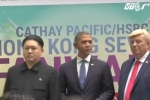 Bản sao Trump, Obama, Kim Jong-un gây huyên náo Hong Kong