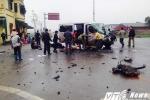 Xe khách đi đón dâu tông xe tải, 18 người thương vong