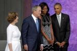 Mối quan hệ giữa cựu Tổng thống Mỹ Bush và gia đình Obama khiến dân mạng thích thú