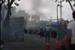 TP.HCM: Cháy lớn tại công ty đóng tàu Ba Son