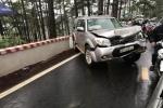 4 ô tô tông liên hoàn trên đèo Prenn, 4 người nhập viện