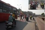 Xe khách tạt đầu, đánh võng đón khách giữa 2 chốt CSGT ở Hà Nội