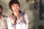 Hoa hậu Nguyễn Thị Huyền xinh đẹp trong trang phục hải quân thăm Trường Sa