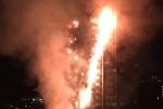 Video: Tháp 27 tầng ở London đang cháy ngùn ngụt