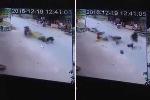 Clip: Xe máy 'phóng như tên lửa', gây va chạm hất bay 5 người trên phố