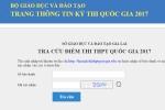 Gia Lai công bố chính thức địa chỉ tra cứu điểm thi THPT Quốc gia 2017