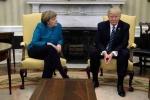 Khoảnh khắc Tổng thống Trump từ chối bắt tay Thủ tướng Merkel gây 'bão'