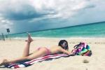 Ngọc Quyên quyến rũ, phơi nắng trên bãi biển