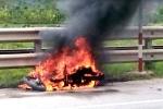 Nam thanh niên tự châm lửa đốt xe trên quốc lộ 1A