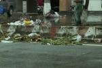Video: Dân chặn xe rác, đường thị xã Sơn Tây ngập ngụa rác thải