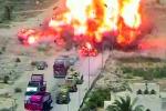 Video: Kíp lái xe tăng dũng cảm cán nát xe bom cứu hơn 50 người thoát chết
