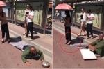 Giả tàn tật ăn xin trên phố, bị gái xinh lật tẩy bẽ bàng