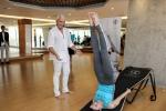 """""""Không riêng Thủy, phụ nữ Việt Nam trong thời gian sắp tới sẽ có ngày càng nhiều hơn nữa cơ hội để tiếp xúc với phương pháp làm đẹp, sống khỏe bằng yoga đến từ những trung tâm yoga đẳng cấp cao như Yoga Plus. Không gian, âm nhạc, hương thơm của nơi này là dành cho các bạn. Hãy nâng niu chính mình\'\' – ông Johnny nhấn mạnh"""