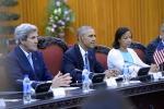 Tổng thống Obama đã dùng loại nước uống gì trong cuộc họp với chính phủ VN?